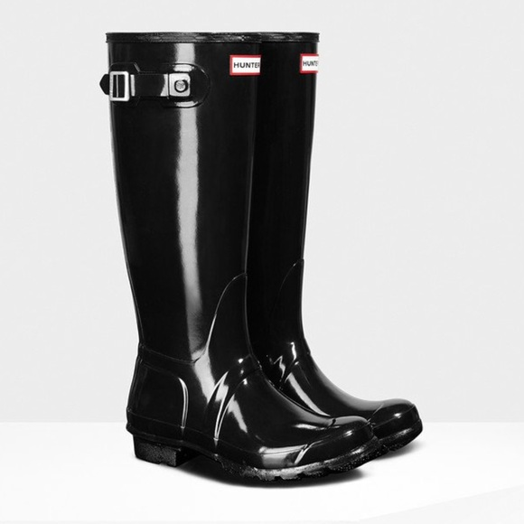 NWT Hunter Original Tall gloss rain boots, Sz 8